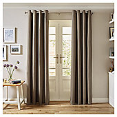 Tesco Canvas Lined Eyelet Curtains - Mocha