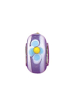 Jo For Girls Lilac Blooms Glass Slide On Bead