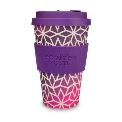 Ecoffee Cup Stargrape with Dark Purple Silicone 14oz