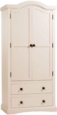 Core Products Quebec QB392 2 Drawer 2 Door Wardrobe