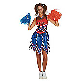 F&F Zombie Cheerleader Halloween Costume - Red