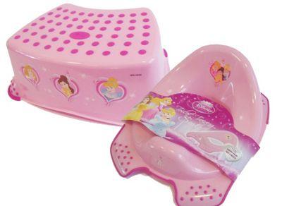 Disney Princess Toddler Toilet Training Seat & Step Stool Combo - Pink