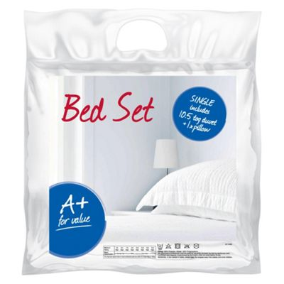 Bed Set 10.5 Tog Duvet and Pillow - Single