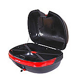 Homcom 44L Top Back Box Motorcycle Luggage Storage Universal Black