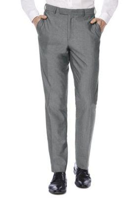 F&F Regular Fit Suit Trousers Grey 46 Waist 29 Leg