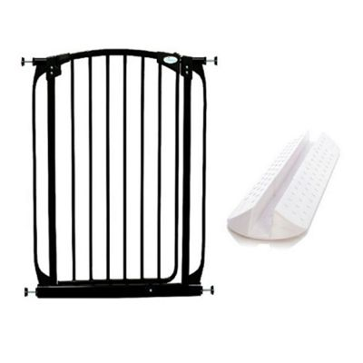 Dreambaby Extra Tall Swing Closed Gate Black with No-Trip Ramp