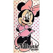 Minnie Mouse Polka Dot Beach Towel