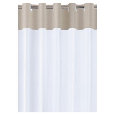 Tesco Linen Effect Shower Curtain