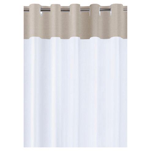 Tesco Linen Effect Shower Curtain