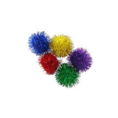 Impex Assorted Glitter Pom Poms 25mm