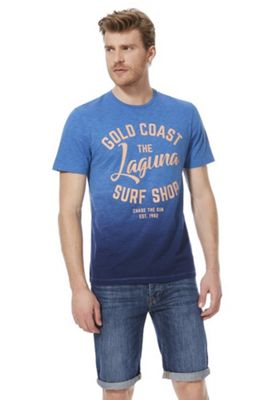 F&F Laguna Surf Club Ombre T-Shirt Blue L