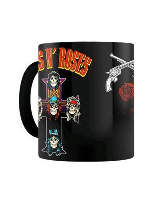 Guns N' Roses Cross 10oz Heat Changing Ceramic Mug, Black