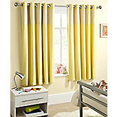 Enhanced Living Sweetheart Yellow Eyelet Curtains - 46x72 Inches (117x183cm)