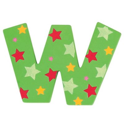 Bigjigs Toys Star Letter W (Green)