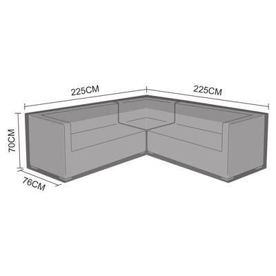 Nova Squared Corner Sofa Set Garden Patio Furniture Protective Cover