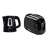 Igenix IGPK08 Breakfast Set Kettle and 2 Slice Toaster - Black