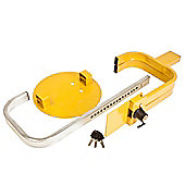 Trailer Security Wheel Clamp - Folding Design (fits 8-10 Wheel Sizes)