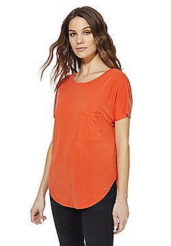 F&F Luxury Supersoft T-Shirt - Orange