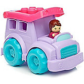 Mega Bloks Purple School Bus Building Set