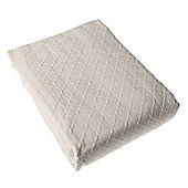 Homescapes Cream Cotton Rich Metelassé Diamond Pattern Bedspread, King