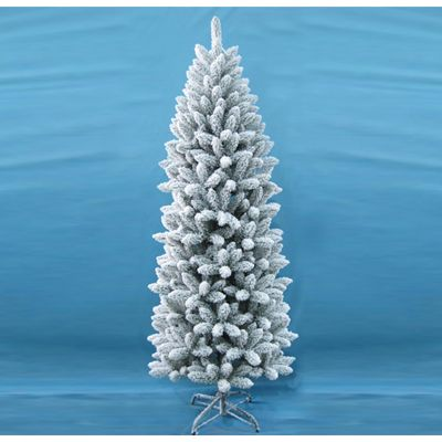 195 cm 6.5Ft Slim Style Artificial Snow Christmas Tree Xmas Festive