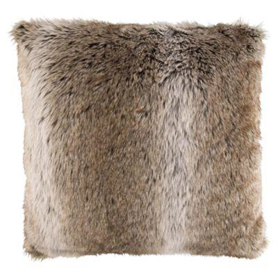 F&F Home Arctic Fox Faux Fur Cushion