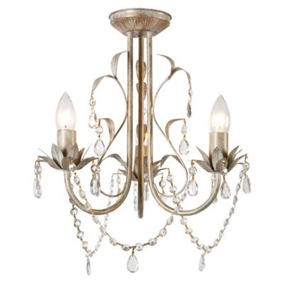 Buy Odelia Shabby Chic Three Way Ceiling Light Antique White From Our Flush Amp Semi Flush