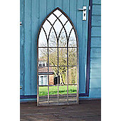Large Outdoor Garden Mirror Rustic Gothic Design 3Ft9 X 1Ft 8 (115Cm X 50Cm)