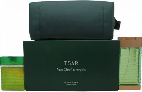 Van Cleef & Arpels Tsar Gift Set 100ml EDT + 100ml Shower Gel + Pouch For Men