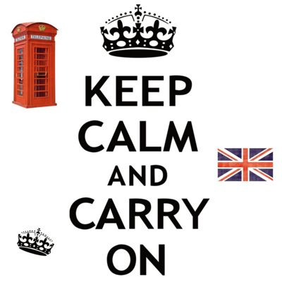 Keep Calm and Carry On Wall Stickers
