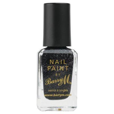 Barry M Nail Paint 333 - Black Multi Glitter