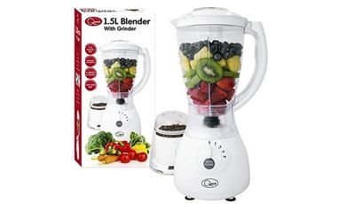 1.5L Blender with Grinder 400Watt 4 Speed Pulse Blender, Juicer & Grinder