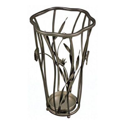 Floral Metal Umbrella Stand