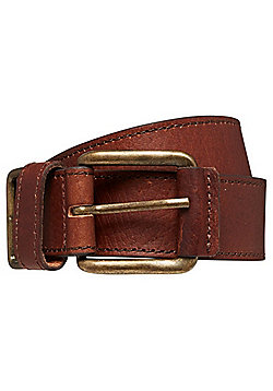 F&F Casual Leather Belt - Chocolate brown