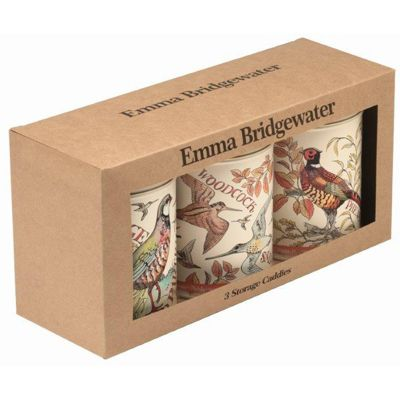 Emma Bridgewater Game Birds Set of 3 Storage Caddies