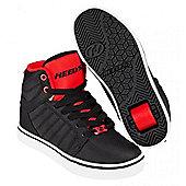 Heelys Uptown Black/Red Ballistic Kids Heely Shoe - Black