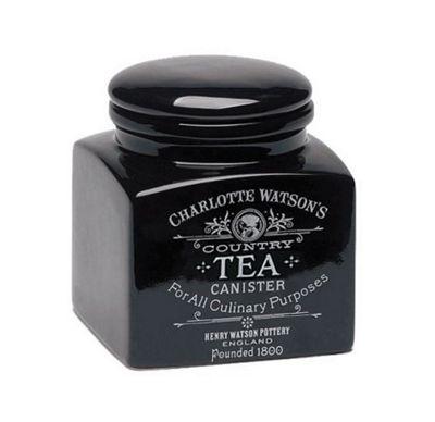 Charlotte Watson Small Square Tea Storage Jar in Black 818
