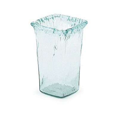 Clear Recycled Rusticana Sq Vase Medium