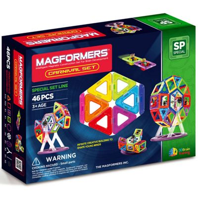 Magformers 46 Piece Carnival Magnetic Construction Set
