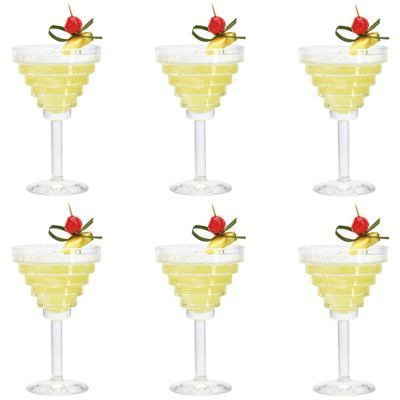 Durobor Etore Martini / Margarita / Cocktail Drinking Glass - 260ml - Pack of 6 Glasses