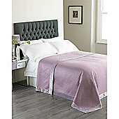 Riva Home Dimity Mauve Bedspread - 240x260cm