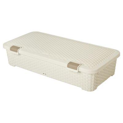 buy curver my style underbed storage box 42l cream. Black Bedroom Furniture Sets. Home Design Ideas