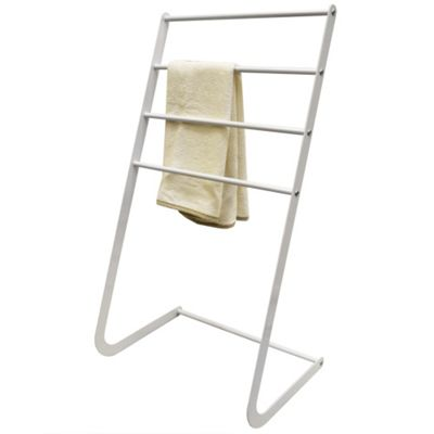 Apex - Metal 4 Rung Towel Rail / Clothes Valet - White