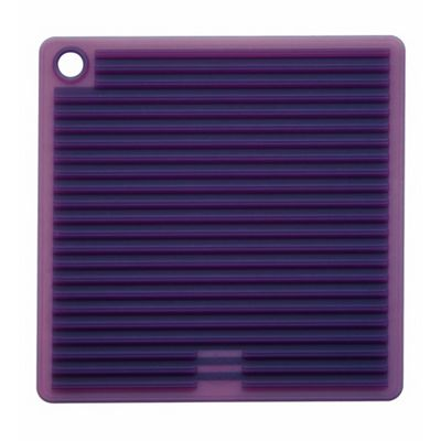Mastrad Square Silicone Pot Holder, Plum Purple