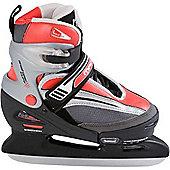 Lake Placid Mach 5 Boys Adjustable Ice Skates - Red