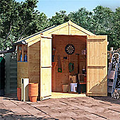 BillyOh Master Tongue and Groove Apex Wooden Garden Shed - 4 x 8 Windowed