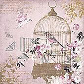 Enchanted Birdcage Printed Canvas 48cm x 48cm