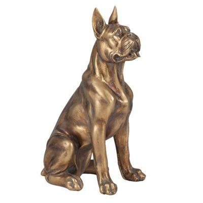 Gold Polyresin Cane Corso Dog Decoration
