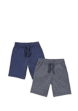 F&F 2 Pack of Sweat Shorts with As New Technology - Multi