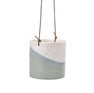 Burgon & Ball Glazed Hanging House Plant Pot in Dip Design